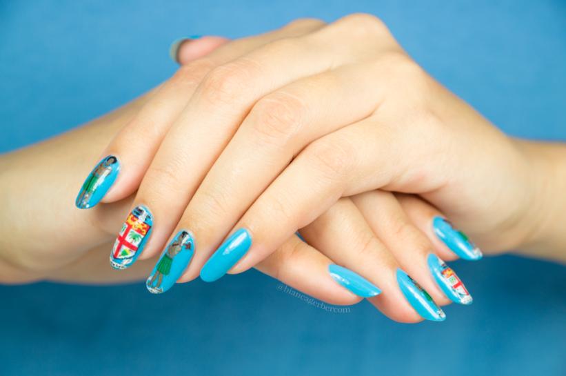 Fiji Inspired Nail Design Tutorial Bianca Gerber