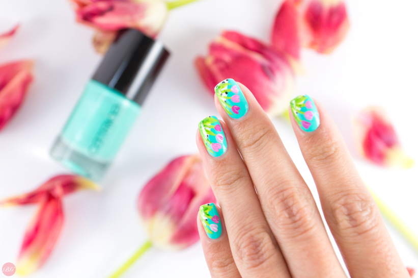 Tulips on mint nail design tutorial tulips on mint tutorial tulips on mint nail design prinsesfo Choice Image